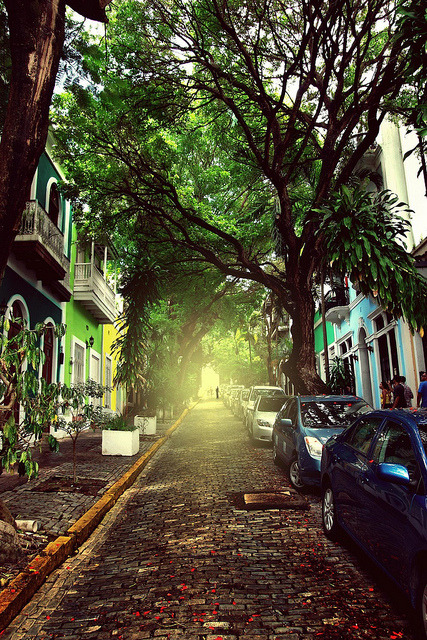 The light at the end of the street, San Juan, Puerto Rico
