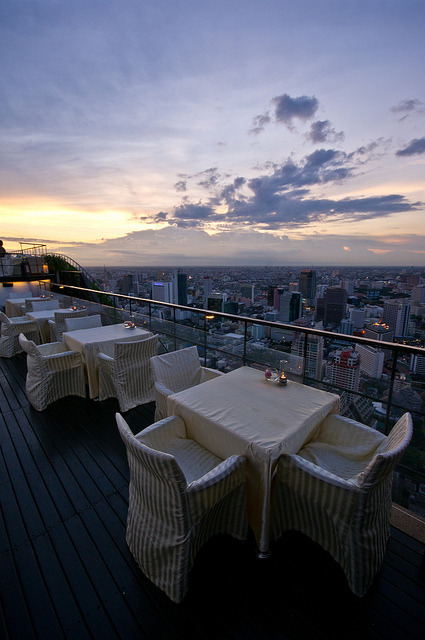 Vertigo open-air rooftop lounge in Bangkok, Thailand