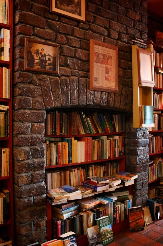 Bookstore Fireplace, Liverpool, England