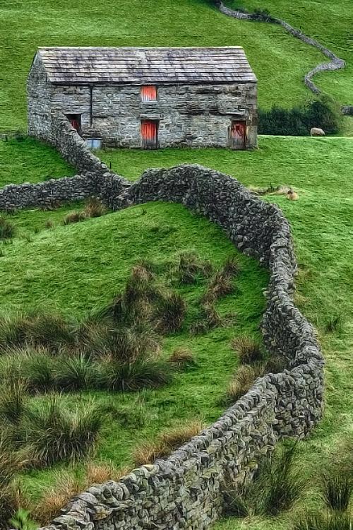 Stone Fence, Yorkshire, England