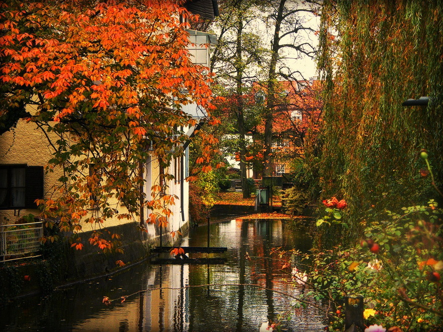 Autumnal beauty, Bad Aibling in Bavaria, Germany