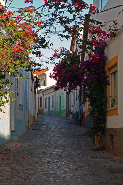 Street view in Ferragudo, Algarve, Portugal