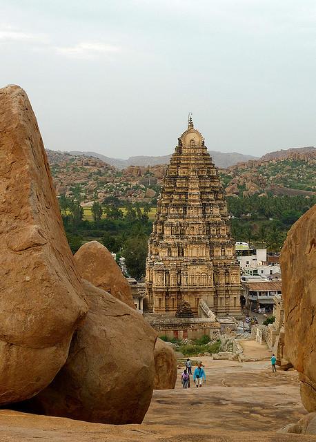Virupaksha Temple, UNESCO World Heritage Site in Hampi, India