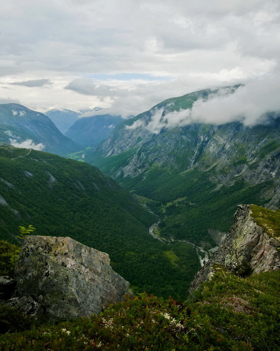 Panoramic view of Eikesdal Valley in western Norway