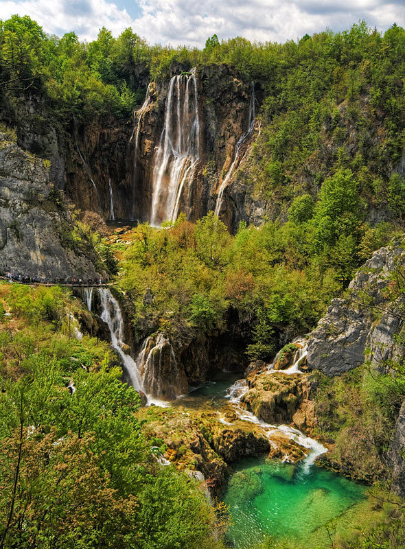 Outstanding natural beauty of Plitvice Lakes National Park, Croatia