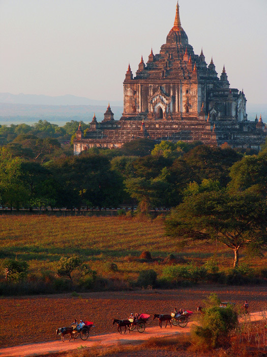 Wandering round temples, Bagan, Myanmar