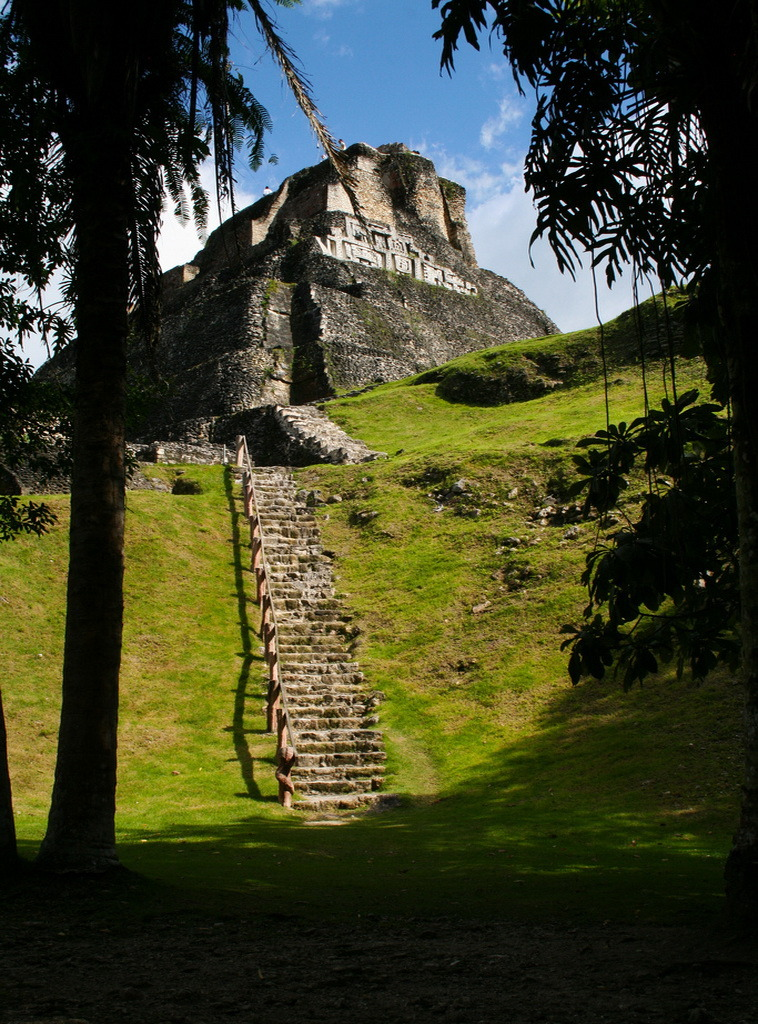 El Castillo mayan pyramid at Xunantunich in western Belize
