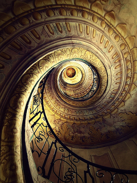 The amazing spiral staircase of Melk Abbey, Austria