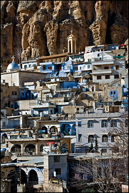The ancient village of Ma'loula, the last place where aramaic language is still spoken, Syria