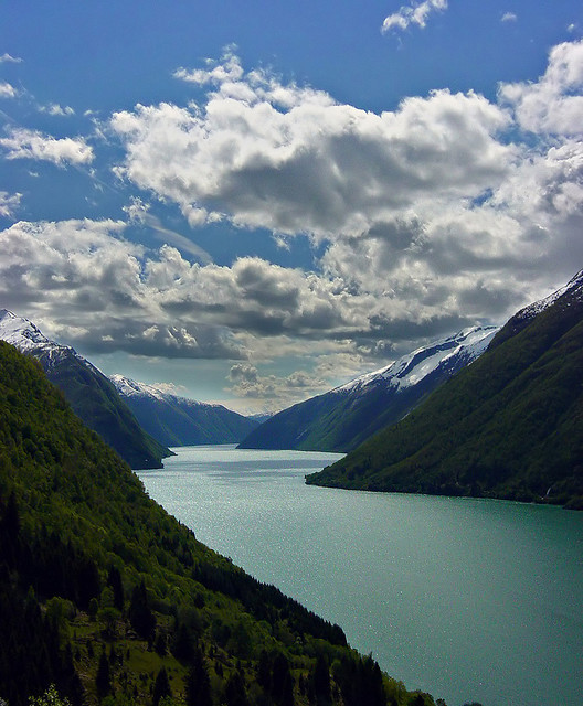 Summer days in the fjords, Sognefjord, Norway