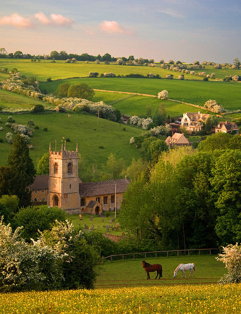The cotswold village of Naunton, in the Windrush valley, Gloucestershire, England