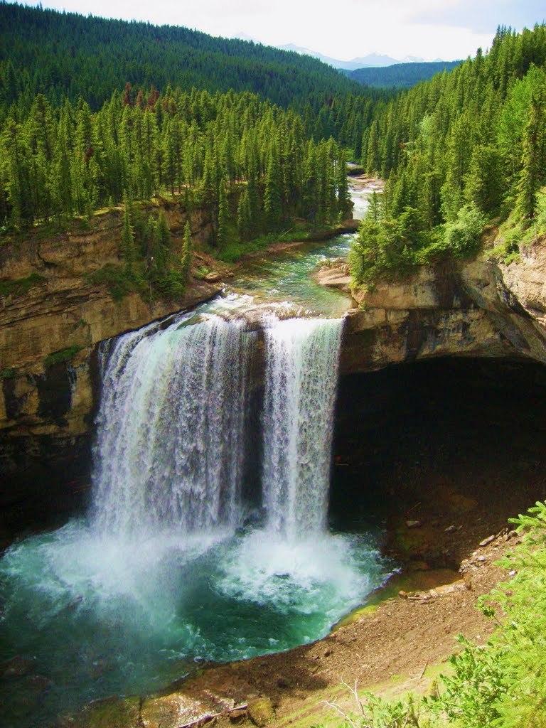 Kakwa Falls in Alberta, Canada