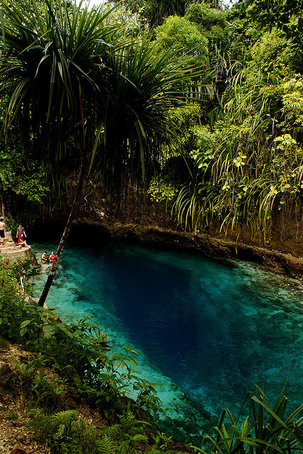 Hinatuan Enchanted River in Surigao del Sur / Philippines