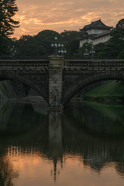 Seimon Ishibashi bridge at Edo Castle in Tokyo / Japan
