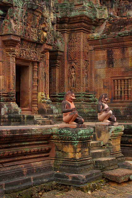 Guardians of the temple, Banteay Srei / Cambodia