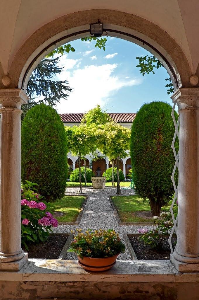 Monastery gardens at San Lazzaro degli Armeni, Veneto / Italy
